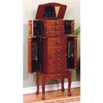 Powell Cherry Jewelry Armoire