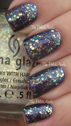 China Glaze Halloween 2012 Wicked Make A Spectacle over Bizarre Blurple
