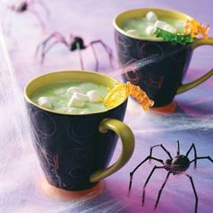 Bubblin' Swamp Juice Recipe -This unique take on hot chocolate is perfect for Halloween. The creamy white chocolate mixture is thick and satisfying. Add a few drops of peppermint extract if your crew would prefer a minty drink.—Taste of Home Test Kitchen
