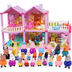 Peppa Pig George pig Family and friends Toys Doll Real Scene Model Amusement park house PVC Action Figures toys - To buy again Baby Alive Doll Clothes, Baby Alive Dolls, Lps Toys, Doll Toys, Lps Baby, Peppa Pig House, Frozen Cupcake Toppers, Disney Princess Toys, Pig Family