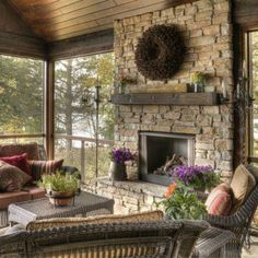 this will be my sunroom...except round river rocks with a tad more color in them like a little pink here and there, not the square ones shown here.