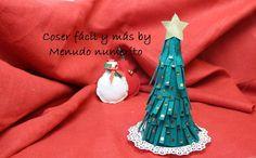 Cómo hacer un arbolito de Navidad de fieltro