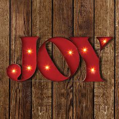 JOY LED Marquee Sign - BedBathandBeyond.com