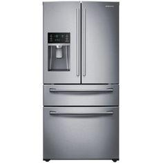 3299.00--Samsung 28.15-cu ft 4-Door French Door Refrigerator with Single Ice Maker (Stainless Steel) ENERGY STAR