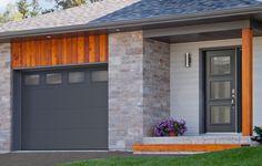 Garaga garage door: model Standard+ Flush, 10' x 7', Charcoal, Masterline windows / Novatech entry door: model Sydney from the Prestige Collection * Masterline glass