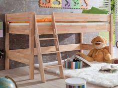 """Spielbett """"Kim"""", Buche massiv, natur lackiert  von Relita, Liegefläche 90 x 200 cm"""