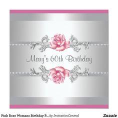 Fiesta del cumpleaños de la mujer color de rosa