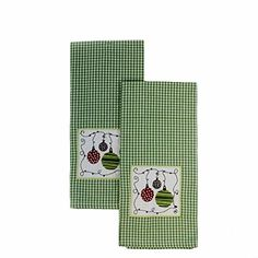 "Christmas Kitchen Towels Embroidered Ornaments Set of 2- 18""x 28"" - Green DII http://www.amazon.com/dp/B019HFNXC0/ref=cm_sw_r_pi_dp_8nSdxb163QHJB"