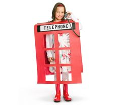 """With a few accents (an old-school handset, a bit of """"'ello, love!""""), a red yoga mat is a dead ringer for a telephone kiosk. Best part? No """"dressing up"""" required. Just wear a regular outfit, then slip on red boots to blend in with the """"booth."""""""
