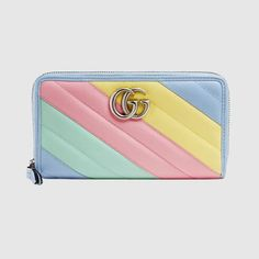 Gucci GG Marmont zip around wallet Gucci Brand, Gucci Fashion, Fashion Bags, Gucci Wallet, Zip Wallet, Zip Around Wallet, Wallets For Girls, Cute Wallets, Blue Nails