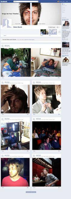 drugs set your [ facebook ] timeline