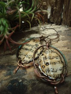 Concerto  Mixed Media Earrings by AlteredAlchemy on Etsy,