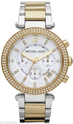 772791a1a0ae Michael Kors  Parker  Chronograph Bracelet Watch in gold silver