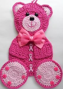 Cancer Awareness Bear by Linda Weddle