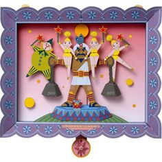 Circus Strongman,Toys,Paper Craft,Frame ,circus,clown,relief,Moving