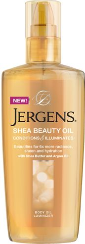 Don't just hydrate your skin. Beautify it. New Jergens® Shea Beauty Oil is a total body luminizer designed to quench, hydrate and condition your skin, leaving it 6x more radiant, with a stunning sheen.