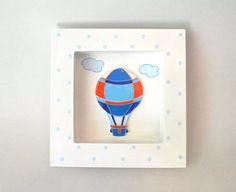 cuadro infantil madera cohete, auto, globo para cuarto nene
