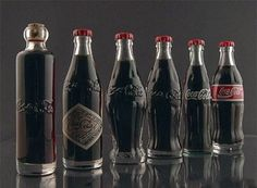History of changes of the Coca Cola bottle
