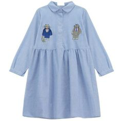 Mr Cat Embroidered Dress