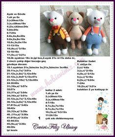 Huzurlu bir uyku ve güzel bir sabaha uyanmanız dileğiyle Ваш жирафик готов Вязанные игрушки animal baby dolls amigurumidoll dollpatterns knittingpatterns dollhouses amigurumibebekyapıl salvabrani Crochet Bunny Pattern, Crotchet Patterns, Crochet Amigurumi Free Patterns, Crochet Bear, Cute Crochet, Crochet Dolls, Doll Patterns, Crochet Disney, Cat Amigurumi