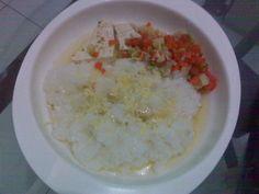 Nasi, TIm, Cincang, Bayi 6-12 Bulan,Kesehatan, Makanan Bayi, Makanan Sehat, Sarapan,
