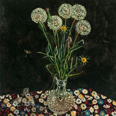 Dandelions in Spring by Lucy Culliton, 2020. Oil on board. Dandelions, Bunch Of Flowers, White Flowers, Goats Beard, Nz Art, Paul Klee, Flower Of Life, Lovely Things, Impressionist