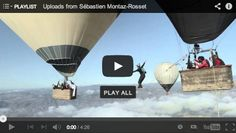 Video: The Balloon Highline ~ WHO exactly thinks this up? SMDH! o.O #Crazy #HotAirBalloons