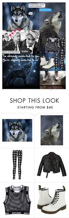 """""""❤️Like A Wolf ~ Kai❤️"""" by ish-fish ❤ liked on Polyvore featuring Oris, rag & bone, Nasty Gal, Moschino, Dr. Martens and botexo"""