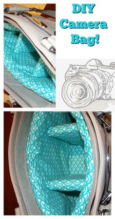 Camera Purse - Ellis & Page Camera Bag Insert, Camera Bag Purse, Camera Bags, Diy Bags Purses, Diy Purse, Sewing Crafts, Sewing Projects, Diy Crafts, Bag Patterns To Sew