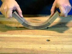 Cutting a series of kerfs in a section of wood or plywood can allow you to form it around a curve.