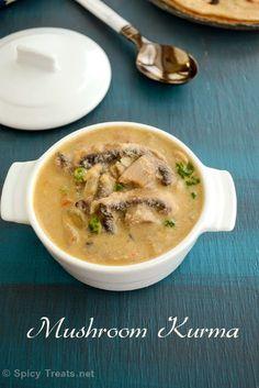Spicy Treats: Hotel Style Mushroom Kurma Recipe | Mushroom Vellai Kurma Recipe | Mushroom Kurma Recipe