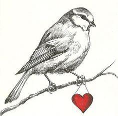 Bird & heart.