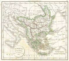 1832 Delamarche Map of Greece and the Balkans  Geographicus Greece-d-32  Σε Poster σε Αυτοκόλλητο σε Καμβά ή Foam Board Vintage Wall Art, Vintage Walls, Greece Map, Ottoman Empire, Hand Coloring, Vintage World Maps, Copper, Dating, Plate