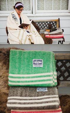Lake Superior Woolen Company  Michigan sheep. Michigan product.