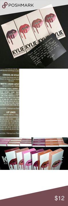 Kylie Lip Kits Inauthentic, but good quality--right vanilla scent. Smile, Exposed, Posie K, Kourt K, Dolce K, Koko K Makeup Lipstick
