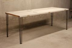 Contemporary Steel Table Legs That Just Need A Nice Clean