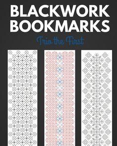 Blackwork Bookmark Trio the First Pattern