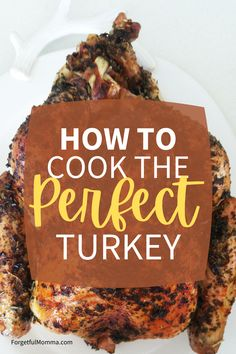 How to Cook the Perfect Turkey - #slowcookerrecipe #ovenbaked #thanksgiving #christmas Vegetarian Thanksgiving, Thanksgiving Appetizers, Thanksgiving Side Dishes, Thanksgiving Recipes, Best Turkey Recipe, Recipe 30, Turkey Recipes, Cooking The Perfect Turkey, Best Christmas Recipes
