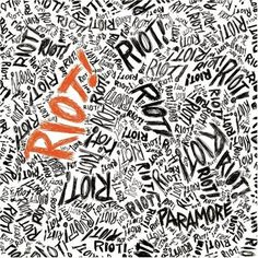 This Paramore album cover is a great example of typography and miscellaneous type. The title of the album and most important part of the cover is written over and over and brought out in bold in some areas. Cd Album Covers, Music Covers, Box Covers, Three Days Grace, Album Design, Cd Design, Type Design, Design Ideas, American Idiot