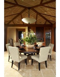 hawaiian ethnic retreat tropical dining room hawaii willman