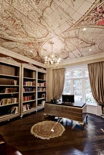 worldly office. Omg dream ceiling for a future office