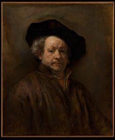 Rembrandt van Rijn Self-Portrait, Housed at The Metropolitan Museum of Art, NY. A beautiful face. Rembrandt created approximately 100 self portraits. Rembrandt Self Portrait, Rembrandt Paintings, L'art Du Portrait, Rembrandt Art, Caravaggio, Anthony Van Dyck, Baroque Art, Dutch Painters, Fine Art