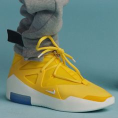 """596e9d28b82 Bleacher Report Kicks on Instagram  """"The Nike Air Fear of God 1 in a yellow  colorway. 📸  Complex"""""""