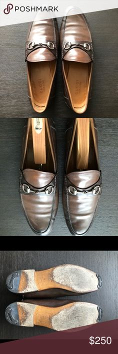 GUCCI Brown Leather Horsebit Loafer GUCCI Brown Leather Horsebit Loafer w/Dark Chocolate Tips; #295652; Silver Hardware; Leather Sole; Made in Italy; 9UK/10US EXCELLENT Gucci Shoes Oxfords & Derbys