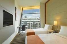 2 Single Beds Room with Free Express Start Breakfast and Free Wi-Fi Access throughout the hotel.