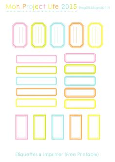 Etiquettes imprimable - free printable - project life