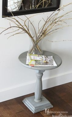 How to make a Pedestal Accent Table for only $25!