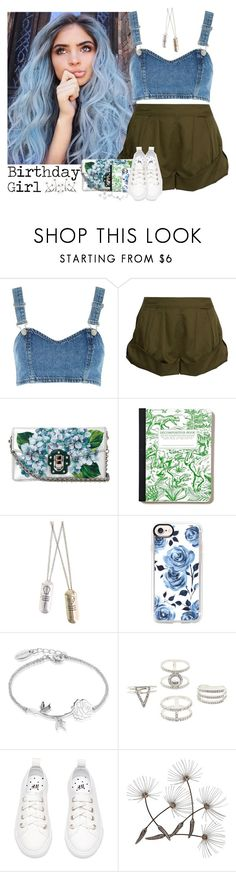"""613->Birthday Girl! :)"" by dimibra ❤ liked on Polyvore featuring Topshop, Eres, Dolce&Gabbana, Hot Topic, Casetify, Disney, Charlotte Russe, denim, Blue and olive"