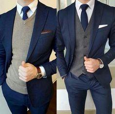 Navy Blue Groom Tuxedos 2019 Shawl Lapel Classic Fit Two Piece Groomsman Wedding Men Suits Mens Prom Tuxedos Suits (Jacket+Pants) Blazer Outfits Men, Mens Fashion Blazer, Suit Fashion, Dress Suits For Men, Mens Suits, Men Dress, Blue Suit Wedding, Vintage Wedding Suits, Wedding Men