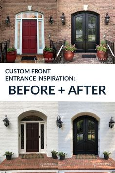 Customize your front or patio entrance with a Clark Hall exterior door. From modern to traditional, our custom made iron doors transform the design of any home. Do you need hurricane impact doors for your Florida home? We can also help you bring custom style to your front entrance. Check out our inspiration page for before and after photos and ideas. Custom Front Doors, Traditional Front Doors, House Front, Front Door Makeover, House Exterior, French Doors Exterior, Double Doors Exterior, Double Doors Interior